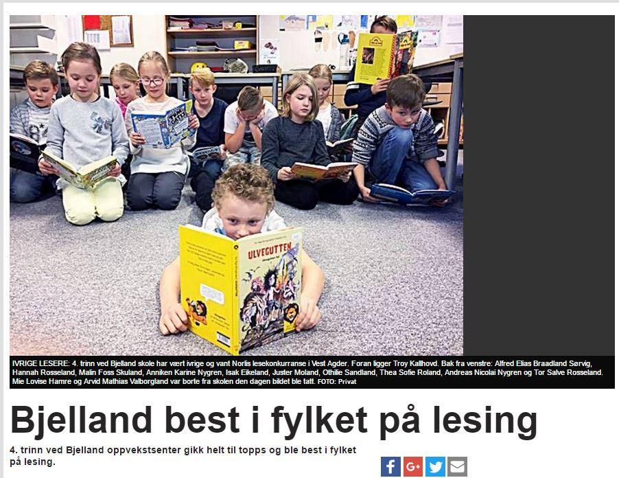 bcc91919 Bilder og presse fra lesekonkurransen! - Norli Junior